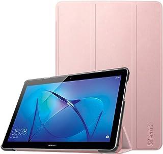 Fintie SlimShell Funda para Huawei MediaPad T3 10 - Súper Delgada y Ligera Carcasa Protectora con Función de Soporte para Huawei Mediapad T3 10 Tablet de 9.6 pulgadas IPS HD, Oro Rosa