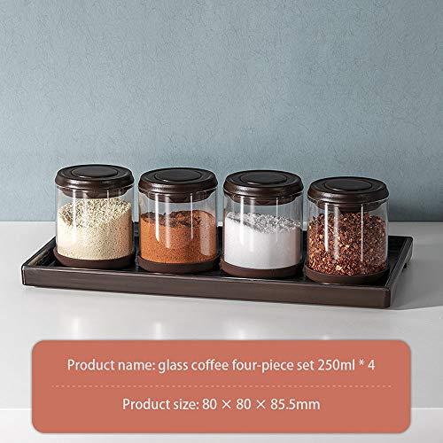 Gewürz Kartei Spice Box Gewürzglas Gewürzbehälter,Küchenbedarf Würzen Salz jar Gewürz Aufbewahrungsbox,Gewürzdosen Schüttdosen Streudosen Vorratsdosen,Tragbare,für die Küche,Unverzichtbares für das
