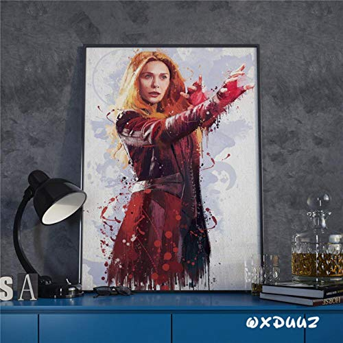 Marvel superheld familie Wall Art Deco schilderij aquarel poster Captain America Iron Man Spider-Man canvas schilderij, 6,50 cm x 70 cm zonder frame