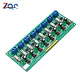 AC 220V 8 canaux MCU TTL niveau 8 ch optocoupleur isolement test Board isolated Detection tester...