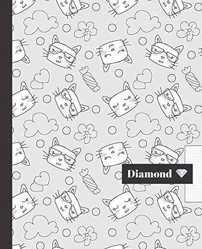 CUADERNO ESCOLAR: Precioso cuaderno de hoja cuadriculada 4 milímetros    Tamaño especial para la mochila o cartera del colegio    120 páginas de Papel de alta calidad 4 mm   Bonito diseño de gatitos