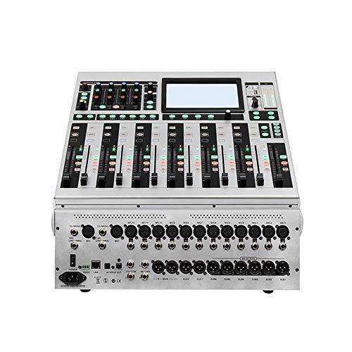 Zengqhui DJ Controller 16-Kanal-Digital-Power Mixer DSP Digital-Effektprozessor Aufnahme Fernkonferenzzentrum Hochzeit gewidmet Mixer All-In-One Deck DJ Controller für Serato DJ
