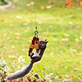 Bungee Cord Squirrel Feeder, Squirrel Bungee Jumping Feeder, Cob Holder Squirrel Feeder for Outside - Attracts Squirrel, Bird and Other Backyard Wildlife (A)