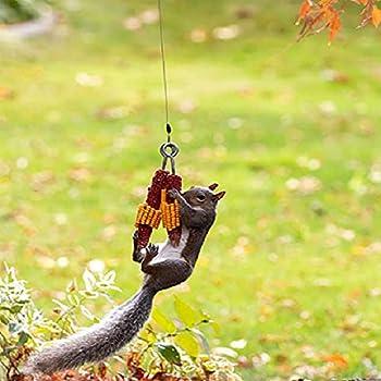 Squirrel Feeder ,Squirrel Feeder Funny Corn Cob Holder Squirrel Feeder,Squirrel feeders for Outside,Can Feed Squirrels Birds Garden Animals  Green