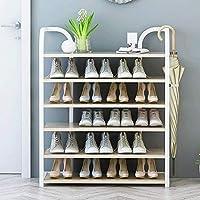 家具装飾靴オーガナイザー/靴ラックシンプルなホーム寮の靴キャビネットアイアンエコノミーラックスペースシンプルな無垢材の靴ラック(サイズ:90x27x110cm)