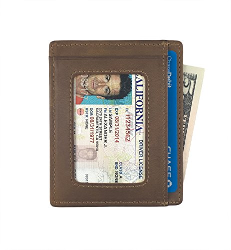 Price comparison product image Andar Leather Slim Wallet with ID Window