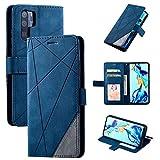 Snow Color [Huawei P30 Pro Hülle, Premium Leder Tasche Flip Wallet Case [Standfunktion] [Kartenfächern] PU-Leder Schutzhülle Brieftasche Handyhülle für Huawei P30Pro - COMS010351 Blau