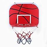 Alomejor - Mini canestro giocattolo da basket, da appendere, per bambini, con rete, pallon...