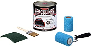 Herculiner HCL0B8 Liquid Black Truck Bed Liner 1 Gallon Brush and Roller Kit