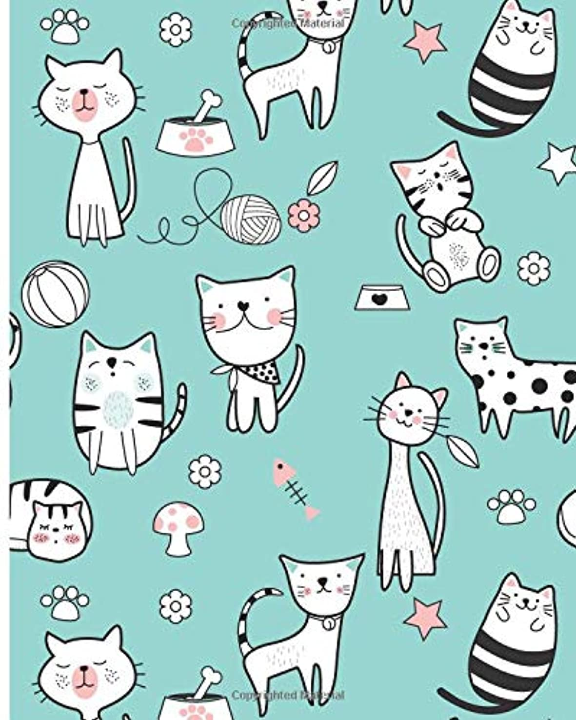 ゆるくダム暗殺するBlank Lined Journal Notebook: Writing Notes and Journaling   Black and White Minimal Cat Cover