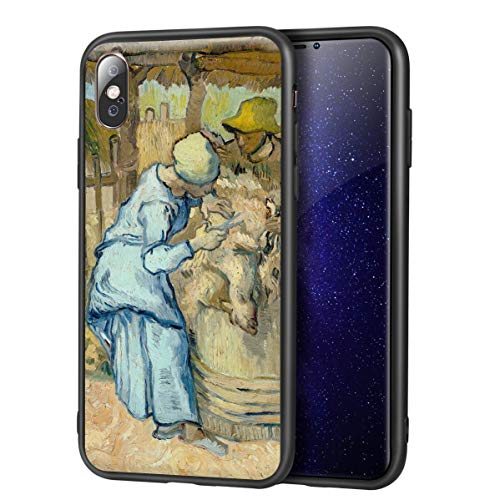 Vincent Van Gogh for iPhone X/iPhone Xs Fine Art Cellphone Case/Art Cellphone Case/Giclee UV Reproduction Print on Mobile Phone Cover(The Sheep Shearer)