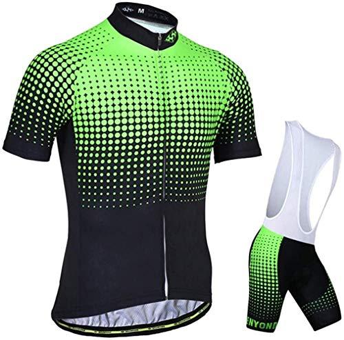 LBWLB - Conjunto de maillot de ciclismo para hombre, manga corta, conjunto...