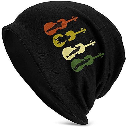 Mathillda mannen en vrouwen muts hoed houden van mijn viool Roman winter warme gebreide cap Black