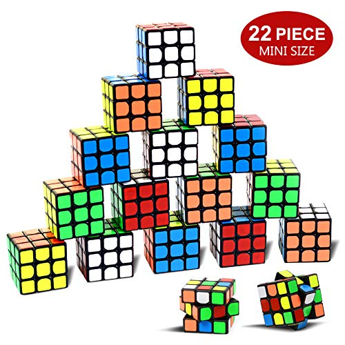 "Party Puzzle Toy,22 Pack Mini Cubes Set Party Favors Cube Puzzle,1.18"" Puzzle Magic Cube Eco-Friendly Safe Material with Vivid Colors,Party Puzzle Game for Boys Girls Kids Toddlers"