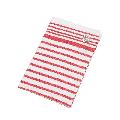 BW-Geschirrtuch Streifen rot