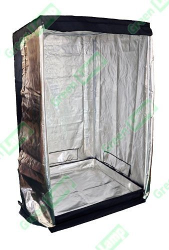 Green Lamp Premium 80 x 80 x 160cm 600D Mylar Interno Tenda Scatola Idroponica Scuro Camera