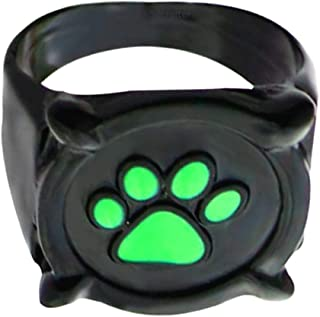 cat noir ring suitable for miraculous ladybug costume. Anillo accessories for girl boy kids adult cosplay. Toy jewelry for...