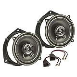 tomzz Audio 4039-004 - Kit de montaje de altavoces compatible con Opel Astra G, Omega B, Zafira, Meriva, puerta trasera de 130 mm, sistema coaxial TA13.0-Pro