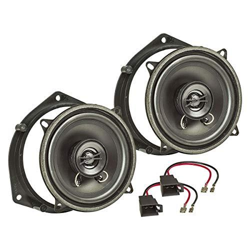 tomzz Audio 4039-004 Lautsprecher Einbau-Set passend für Opel Astra G Omega B Vectra B Zafira Meriva Tür hinten 130mm Koaxial System TA13.0-Pro