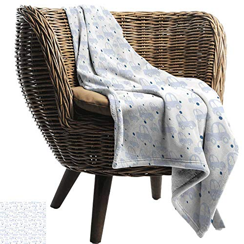 ZSUO Gewogen deken voor kinderen Baby, sterren en wolken schattig ontwerp vintage schets stijl Illustratie kalmerende ornate, Blush goud wit gezellig en duurzaam Stof-Machine wasbaar