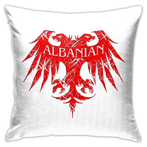 PEARL ANTINO Albanian Eagle Pattern Modern Decorative Square Pillowcase Cushion Throw Pillow for Sofa Bedroom car Home Decoration