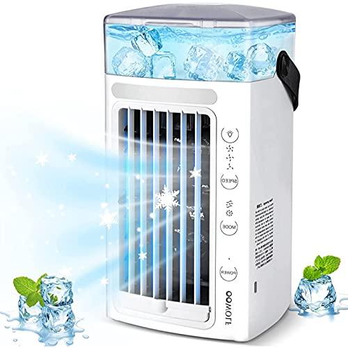 HZIXIXI Enfriador De Aire USB, FuncióN 4 En 1 Purificador Aire - Utilice Solo Agua Limpia Aire Acondicionado Portatil USB - para Cualquier HabitacióN, Oficina, Viajes, Camping