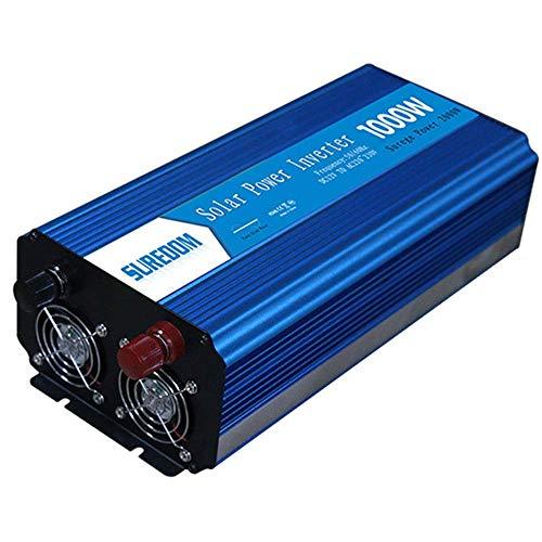 QTCD 1000 Watt Power Inverter Dual AC Outlets 12V DC to 110V/240V AC Modified Sine Wave Inverter 12V DC to AC Power, 2000W Surge Peak Power,Power Charger Inverter with Battery Clips,24Vto230V