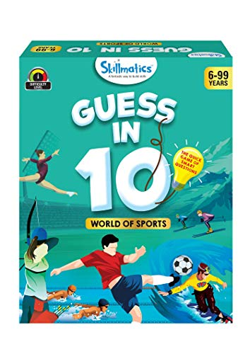 Skillmatics Educational Game : World of Sports - Guess in 10 (Ages 6-99), Card Game of Smart Questions, General Knowledge for Kids, Adults and Families, Gifts for Boys an...