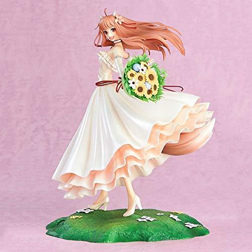 YSKCSRY Lobo y Especias Helo 10º Aniversario de la Boda. Lindo Wolf 1/8 en Caja Anime Figura Decoración Estatua Modelo Colección Juguete Altura 24cm