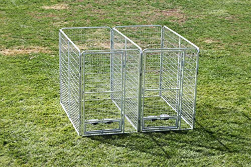 Cove Products Professional X2 K9 Kennel Store 4' X 8' Dog Kennel-Runs Full Stalls