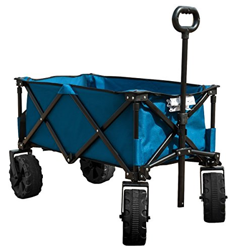 Timber Ridge Folding Camping Wagon/Cart - Collapsible Sturdy Steel Frame...