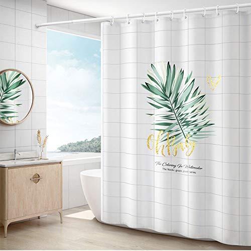 Tende da Doccia Tessuto Poliestere Impermeabile Shower Curtain Bagno Cortina di midew Resistente Lavabile Foglie...