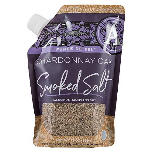 Artisan Salt Company Fumée de Sel Chardonnay Oak Smoked Sea Salt, Pour Spout Pouch, 13 Ounce