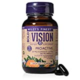 Wiley's Finest Wild Alaskan Fish Oil - Bold Vision for Eye Health, with Lutein, Zeaxanthin, Bilberry, Omega-7, Astaxanthin Plus Vitamin E and Zinc, 60 softgels