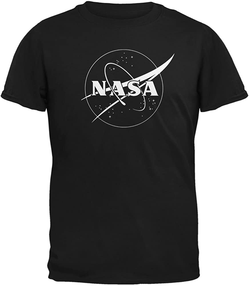 SAN NASA Outline Logo Black Youth T-Shirt