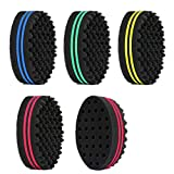 5Pcs Magic Hair Twist Sponge Brush, AUHOKY Premium Two-Sided Barber Curl Sponge with Small Holes, Men Women Children Hair Styling Care Tool for Afro Curling Coils Wave Hair Dreadlocks (4 colors)