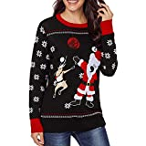 Strickpulli mit Weihnachtsmann und Rudolph