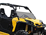 SuperATV Half Windshield for 2011-2020 Can-Am Commander 800/1000 / 800 Max / 1000 Max/MAX XT 1000 (see fitment) | 1/4' Dark Tinted Standard Polycarbonate 250X Stronger Than Glass | USA Made!