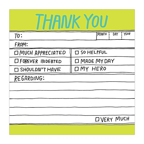 1-Count Knock Knock Thank You Hand-Lettered Sticky Notes, Thank You Notes, 3 x 3-inches, 100 sheets each Photo #3