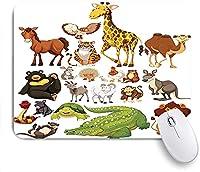 KAPANOU マウスパッド、設計された動物 おしゃれ 耐久性が良い 滑り止めゴム底 ゲーミングなど適用 マウス 用ノートブックコンピュータマウスマット