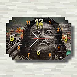 dudkaair Salvador Dalí 11'' x 18 Handmade Wall Clock - Get Unique décor for Home or Office – Best Gift Ideas for Kids, Friends, Parents and Your Soul Mates