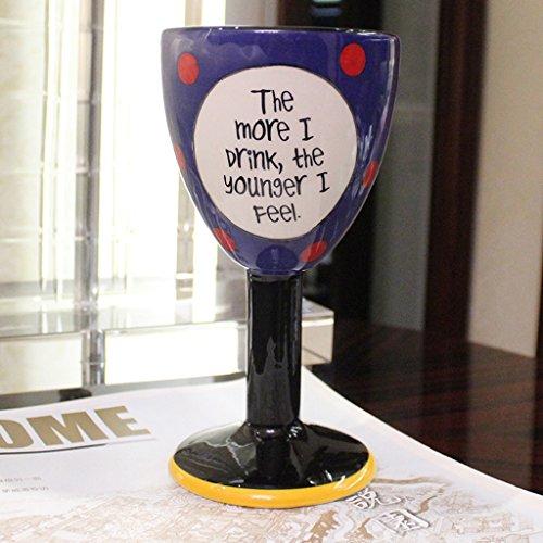 CS Koffie Cup Ice Cream Champagne Wijn Cup Keramische Beker Van Hoge capaciteitCapaciteit Handgeschilderde Leuke Cartoon