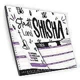 bigdaygraphix Stadt-Land-Ffluo Shisha | El juego de sociedad para shisha | Juego de shisha de regalo para los amantes de la cachimba, bloque A4, 50 páginas