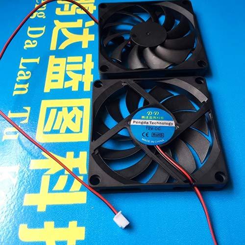 8015 12 V y 24 V a 5 V 8 cm Enchufe USB de la computadora Enrutador de Enfriamiento Pequeño Ventilador