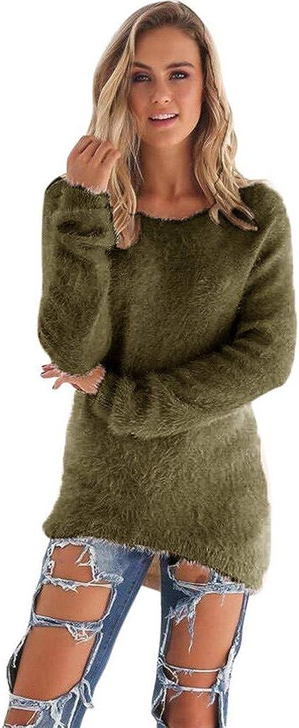 Forthery-Women Warm Long Sleeve Sweater Ladies Sweatshirt Jumper Pullover Tops Blouse