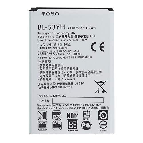 Silverdee Batería de Iones de Litio Duradera Segura Larga Espera 3000mAh / 11.2wh BL-53YH teléfono Celular para LG G3 G 3 VS985 F400 D850 D855 D830