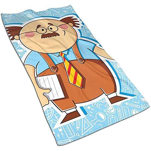 Dliuxf TeacherKitchen Towels-Dish Cloth, Toalla Deportiva de Secado rápido Impresa Personalizada, Toalla para el Cabello