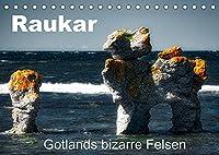 Raukar - Gotlands bizarre Felsen (Tischkalender 2022 DIN A5 quer): Verwitterte Felsen ragen bis zu vierzig Meter aus der Ostsee empor. (Monatskalender, 14 Seiten )