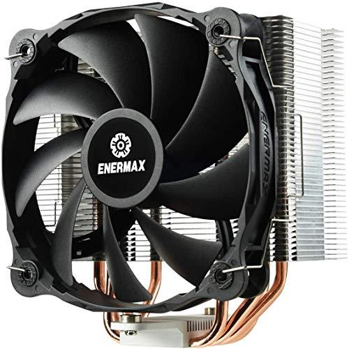 Enermax ETS-F40-FS, ventola di raffreddamento CPU Intel AMD compatto - Ventola PWM 140mm 300-1200 RPM - 200W TDP - Generatore di Vortex ed effetto di vuoto per raffreddamento estremo