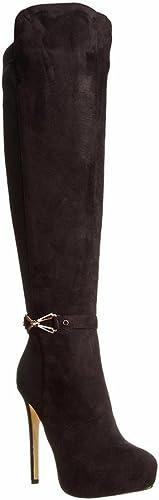 Stiefel para damen Muslo Alto señoras sobre La Rodilla Estirar Noche Bloque Medio